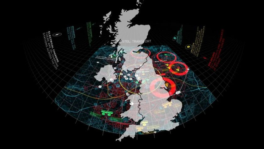 Image of the UK showing digital connectivity