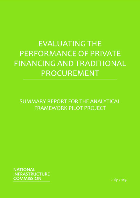 thumbnail of Evaluating the Performance of Private Financing and Traditional Procurement July 2019