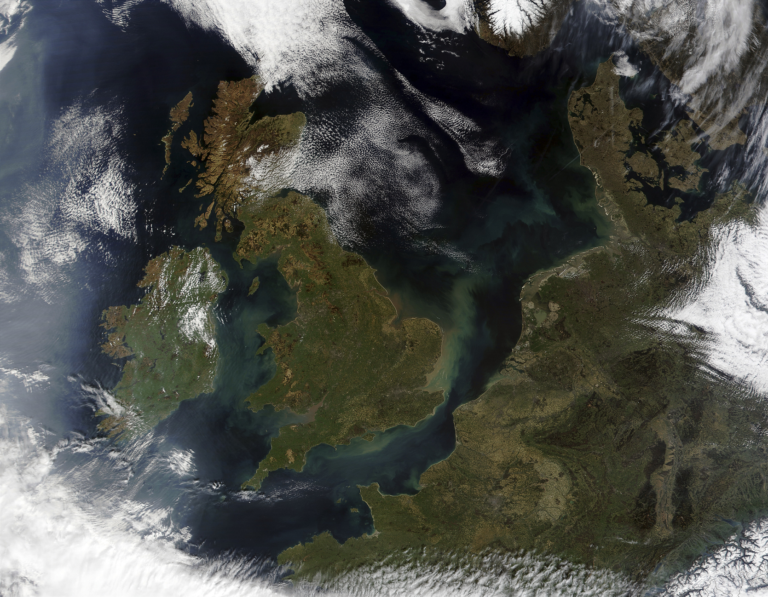 The UK from a satellite