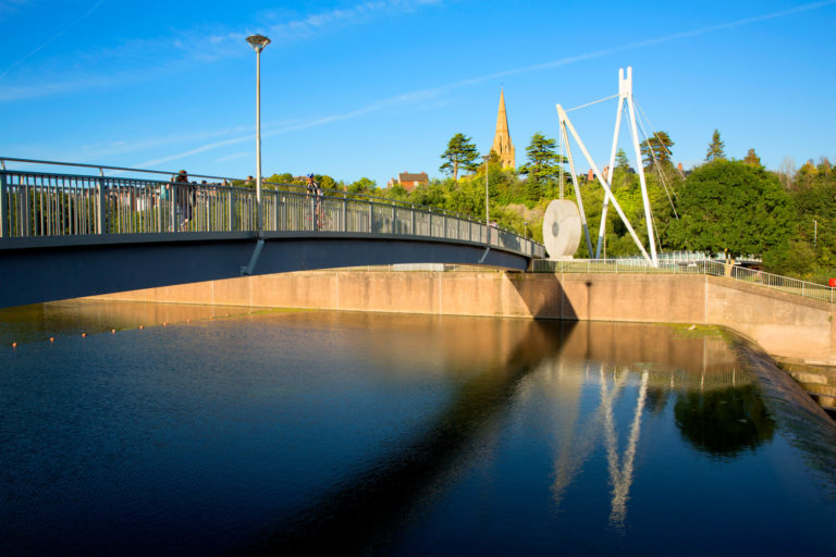 A view across the River Exe in Exeter