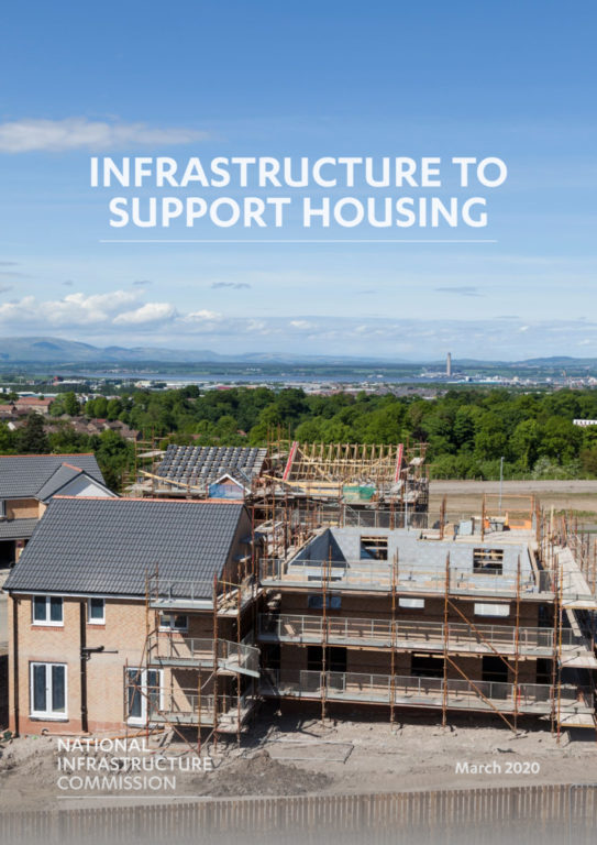 Cover of the report Infrastructure to support housing