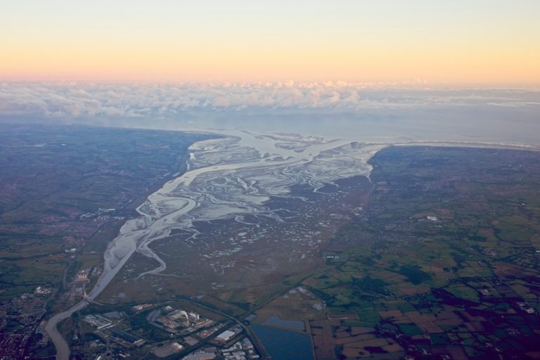 The Dee estuary from the air