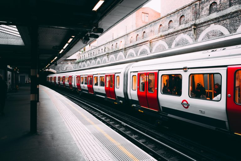 London Underground train in platform